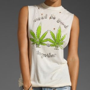 OG UNIF Weed Be Good Together Muscle Tee Size M